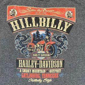 Harley-Davidson Gray Gatlinburg T-Shirt Size Large